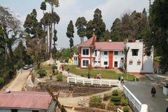 Boeddhistische Tempel in Dhauli Stock Foto's