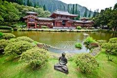 Boeddhistische tempel in Hawaï royalty-vrije stock afbeelding