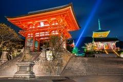 Boeddhistische tempel kiyomizu-Dera in Kyoto royalty-vrije stock afbeeldingen