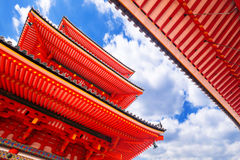 Boeddhistische tempel kiyomizu-Dera in Kyoto, Japan stock foto