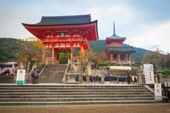 Boeddhistische tempel kiyomizu-Dera in Kyoto, Japan stock foto's