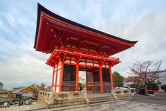 Boeddhistische tempel kiyomizu-Dera in Kyoto, Japan royalty-vrije stock afbeelding