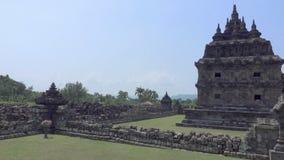 Boeddhistische tempel in Magelang, Centraal Java, Indonesië stock videobeelden