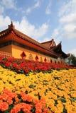 Boeddhistische tempel om te vieren Royalty-vrije Stock Foto's
