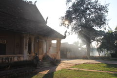 Boeddhistische tempel in Pakse, Laos Stock Foto