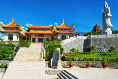Boeddhistische tempel in Phan Thiet, Zuidelijk Vietnam Stock Fotografie