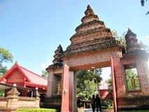 Boeddhistische tempelboog Stock Foto's