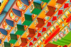 Boeddhistische Tempeldetails stock afbeelding