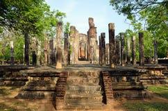Boeddhistische tempelruïnes royalty-vrije stock foto
