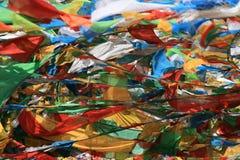 Boeddhistische Vlaggen stock afbeelding