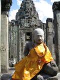 Boedha in Angkor Wat Stock Afbeeldingen