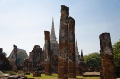 Boedha in Ayutthaya, Thailand. Stock Afbeeldingen