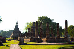 Boedha in de Historische parken van Sukhothai van Thailand Stock Afbeelding