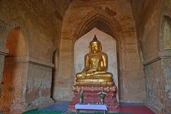 Boedha in de tempel Bagan, Myanmar Stock Afbeeldingen