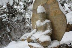 Boedha in de winter Royalty-vrije Stock Foto