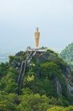 Boedha die zich op een berg bevindt Royalty-vrije Stock Foto