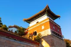 Boedha die Zijn Doctrine (Xiangyan Zongyin Zhi Ge) bevestigen scène van de Zomerpaleis royalty-vrije stock afbeelding