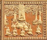 Boedha en de Eerste Vijf Aanhangers Royalty-vrije Stock Afbeelding