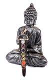 Boedha en zeven chakrastenen Royalty-vrije Stock Afbeelding