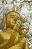 Boedha, gezicht van buddastandbeeld in Phichit-provincie Thailand Stock Afbeelding