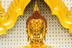 Boedha headshot bij Wat Traimit-tempel, Bangkok, Thailand royalty-vrije stock fotografie