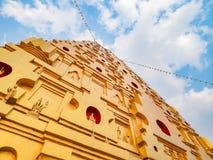 Boedha Khaya Stupa Stock Afbeeldingen