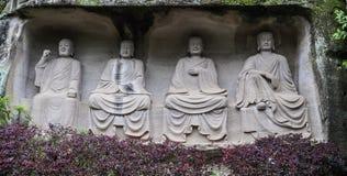 Boedha in lingyunberg in Sichuan, China Royalty-vrije Stock Fotografie