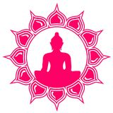 Boedha - Meditatie - de Bloem van Lotus Stock Afbeeldingen