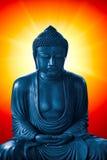 Boedha met licht van wijsheid, peacful Aziatische Boedha zen stock fotografie