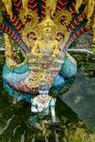Boedha met naga thailand royalty-vrije stock foto's