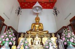 Boedha met zijn eerste monnik vijf Stock Foto