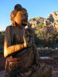 Boedha in Mystieke Sedona Royalty-vrije Stock Afbeeldingen