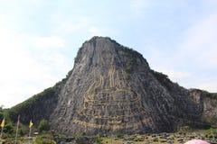 Boedha op de Berg & x28; Khaochi Chan& x29; Sattahip Thailand Stock Foto
