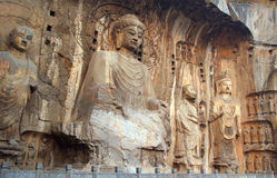 Boedha statues at Longmen caves in China Royalty Free Stock Photography