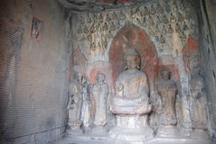 Boedha statues at Longmen Wanfo cave in China Royalty Free Stock Photography