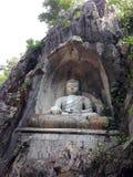 Boedha in steen Stock Afbeeldingen