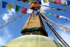 Boedha Stupa in Katmandu Stock Afbeelding
