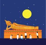 Boedha Thailand met volle maaneps 10 formaat royalty-vrije stock fotografie