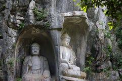 Boedha van het toneelgebied van Lingyin Royalty-vrije Stock Afbeelding