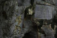 Boedha van het toneelgebied van Lingyin Stock Afbeelding