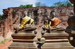 Boedha van Putthaisawan-Tempel Ayutthaya, Thailand Royalty-vrije Stock Foto