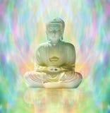 Boedha in vreedzame meditatie royalty-vrije stock afbeeldingen