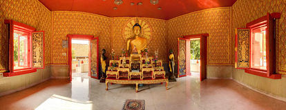 Boedha in Wat Chaiya Mangkalaram Temple, Penang, Maleisië Royalty-vrije Stock Foto
