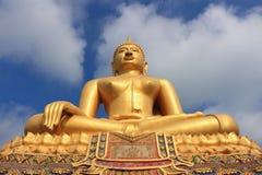 Boedha in Wat In Kanlaya Stock Afbeelding