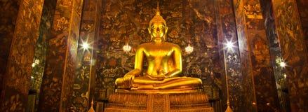 Boedha in Wat Sutat van Bangkok Royalty-vrije Stock Afbeelding