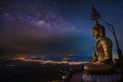Boedha in Wat Tham Seua Stock Afbeeldingen
