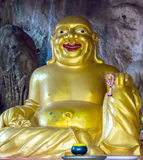 Boedha in Wat Tham Sua, Krabi, Thailand Stock Afbeelding