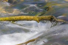 Boeg en stromend water royalty-vrije stock foto's