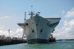 Boeg van Illuster HMS, Portsmouth Stock Foto