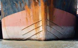 Boeg van vrachtschip royalty-vrije stock fotografie